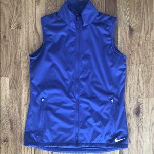 Women's Nike Gold Blue Vest S NWT Windwear